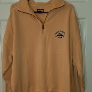 Tommy Bahama 1/2 Zip Sweater Size XL Light Orange